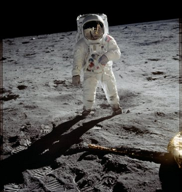Astronauta (foto de la Nasa). Viajes espaciales